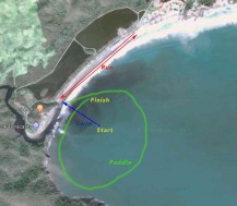 The Tenacatita Triathlon course