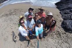The boat fam Secret Beach selfie