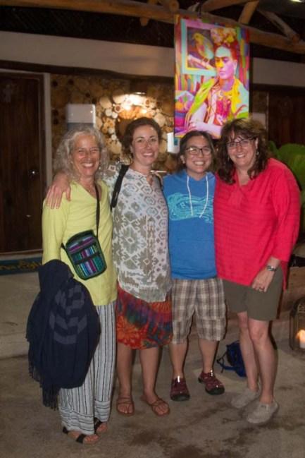Lee, her daughter - Carol, Annie and Vanessa at El Manglito