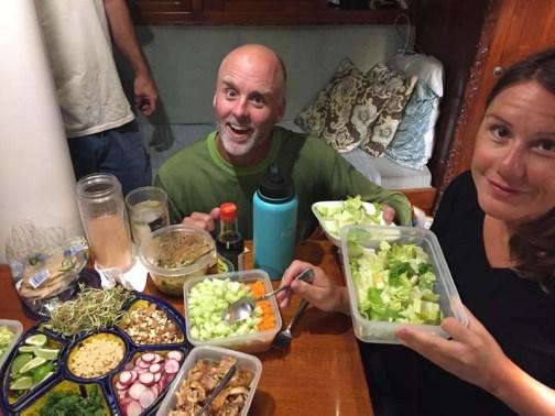 Dinner aboard Adventurer - vermicelli noodle bowls (YUM!)