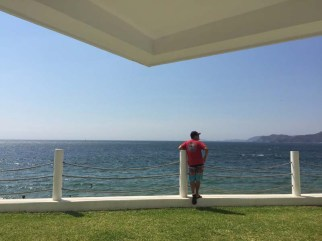 Jerry overlooking the sea from the Barra Hotel