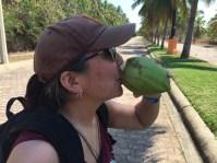 Annie tasting the reward