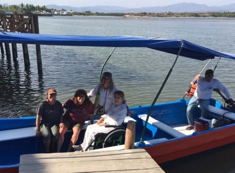 Getting Toni on and off the panga in a wheelchair was a challenge everyone stepped up to :)