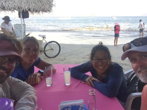 With family gone and after 1.5 months in Barra, we headed down to Santiago Bay to meet up with Adventurer and Dogfish