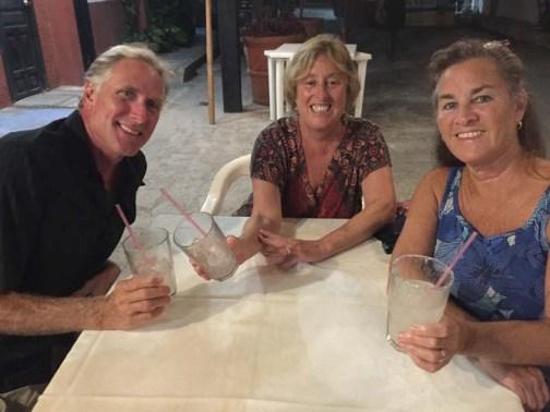 Mike, Bettie, and Nancy enjoying Simona's margs