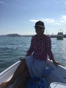 Dinghy ride in La Paz