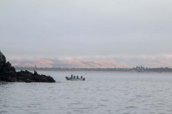 Fishermen working the isla