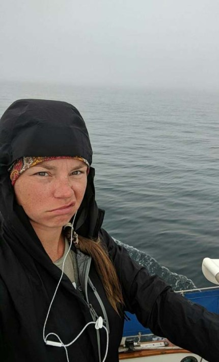A not-so-stoked Krystle on S/V Small World en route to Mazatlán (PC Krystle)