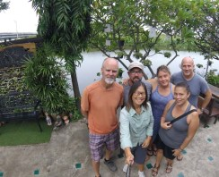 First travel family selfie after our first Thai breakfast together