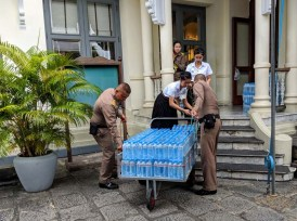 Restocking the bottled water supply