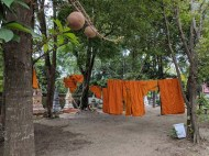 Monks do laundry too