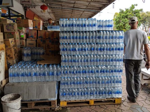 Too much plastic, but people need fresh water