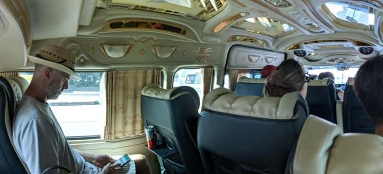 Bling van to the bus station - heading to Pak Chong