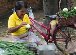 Preparing offerings for Buddhist Lent