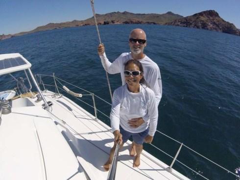 Sailing selfie