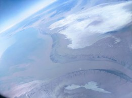 A view of the Colorado River delta - looks pretty darn dry