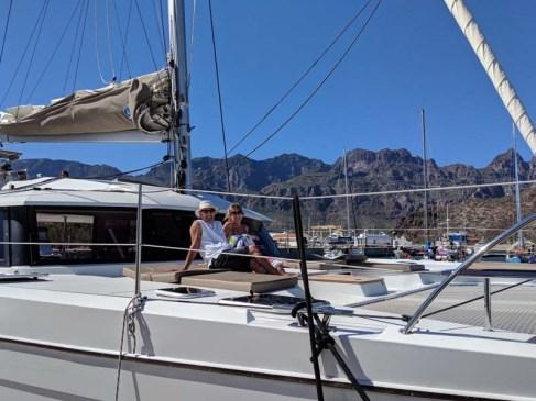 Mike and Jen aboard Balam