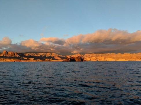 Sailing away from San Telmo