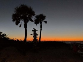 The Gasparilla sunset