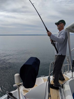 Capt. Fishguts strikes out on our passage to Maz