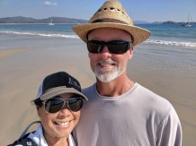 Beach walk at Perula