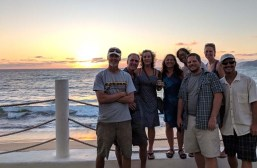 A fun boat clan out for sunset at the Barra Hotel