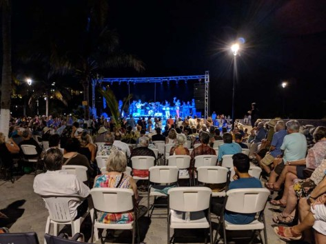 Rockin' in Barra to the Santana Tribute Band - Carlos' grandson on drums and percussion