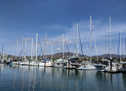 Free Luff had good company in the La Cruz Marina (Liahona, JD, Shanti, Adventurer, Danika, Milou...and more)