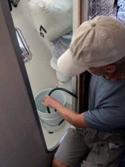 Water maker flush