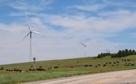 The Kansas prairies supported wind turbines from horizon to horizon