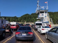 On the cable ferry