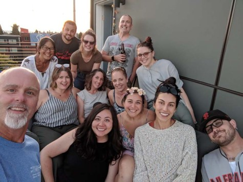 Group selfie on the deck
