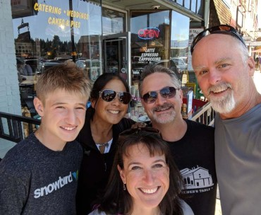 Breaky with the Newmarks in Truckee