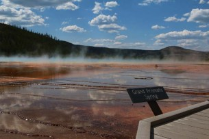 One of the most iconic hot springs in Yellowstone