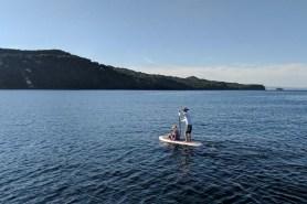 Rand paddling Deb into shore for a mini-excursion