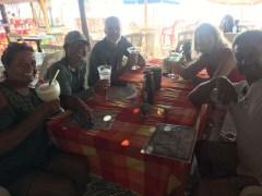 Comida with the crew of Mar y Sol
