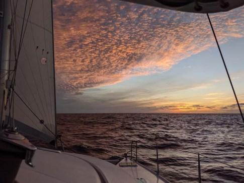 Sunset on Dec. 27 as we depart Bahía de Banderas