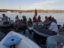 The Friday Mayor's raft-up in Tenacatita