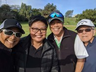 Golf day with Mel, Jer, and Pop