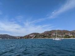 Namahana on the hook off Playa La Ropa