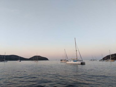 The glow of sunrise on the Saltair3 and the fleet