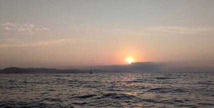 Left before dawn to make Manzanillo overnight - Namahana caught and passed us under the sunrise