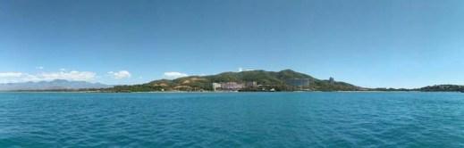 Looking across the water at Ixtapa resorts