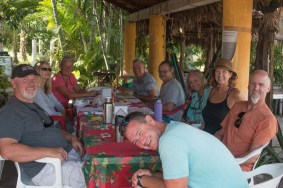 Palapa time in San Blas with crews of S/Vs Catatude, Tigress II, She's No Lady, and Kanga, December 2016