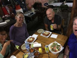 Gretchen and Tobin join FL crew (including Ryan) for Jody's first taste of meat (al pastor) in 31 years in Bucerías, March 2017