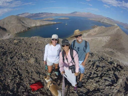 A hike with Vicki and Maya at La Ventana, August 2017