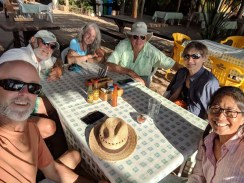 Palapa time with S/Vs Honu and Karvi in Chacala, January 2018