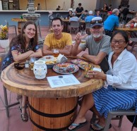 Beers and noms with S/V Simplify at the Banderas Bay Brewing Co., December 2019
