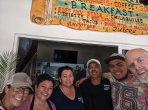 The beautiful family that runs our favorite joint, The Ring, in La Cruz, December 2019