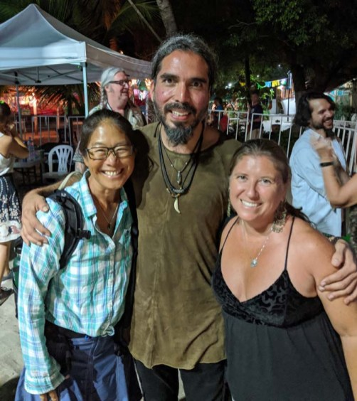 The amazing El Javi with me and Jenn after his set at the Zihua International Guitar Festival - so good! March 2020